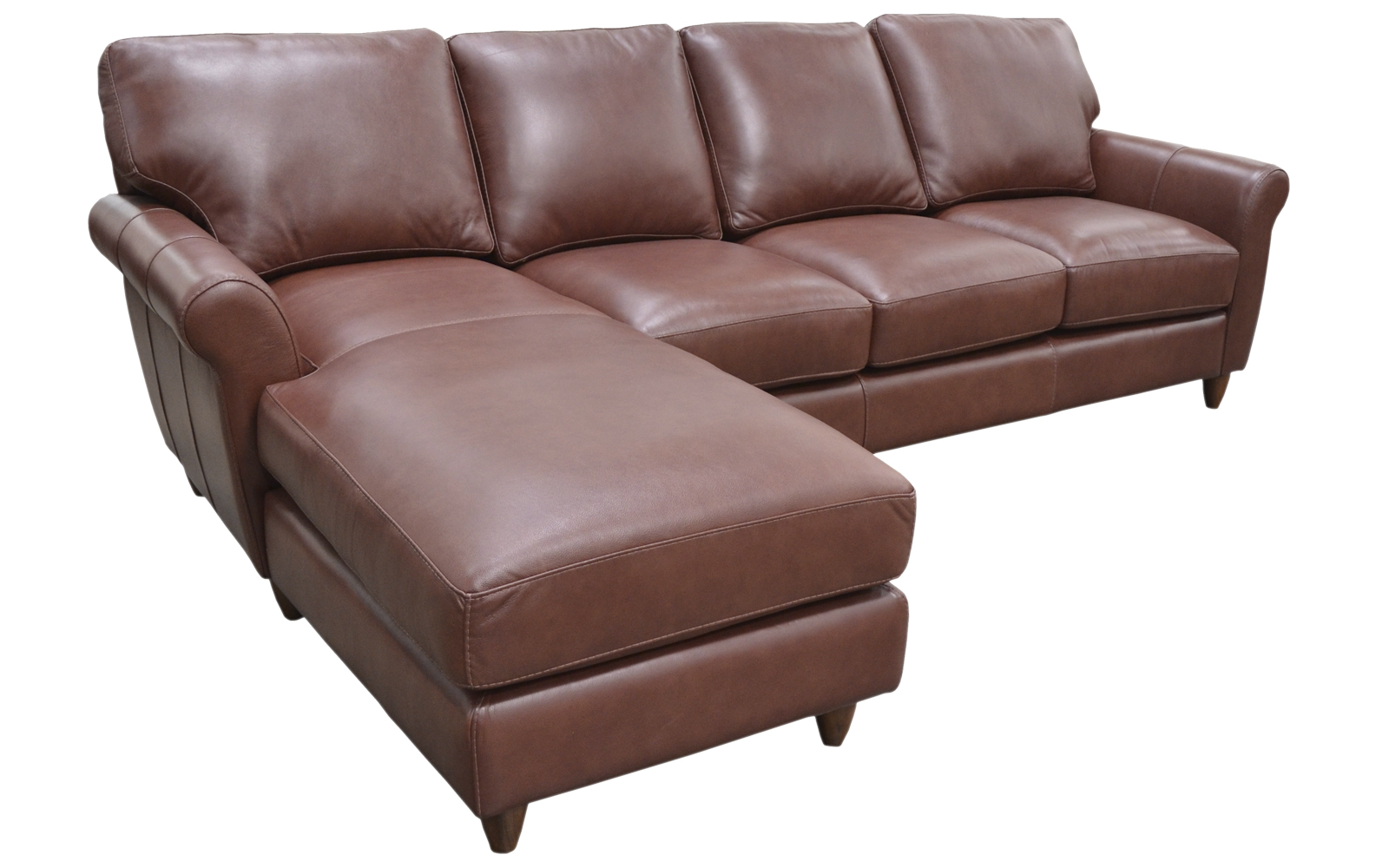 Cameo Chaise Sectional Arizona Leather Interiors
